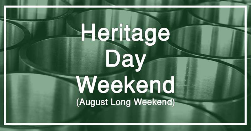 heritage day long weekend 2018