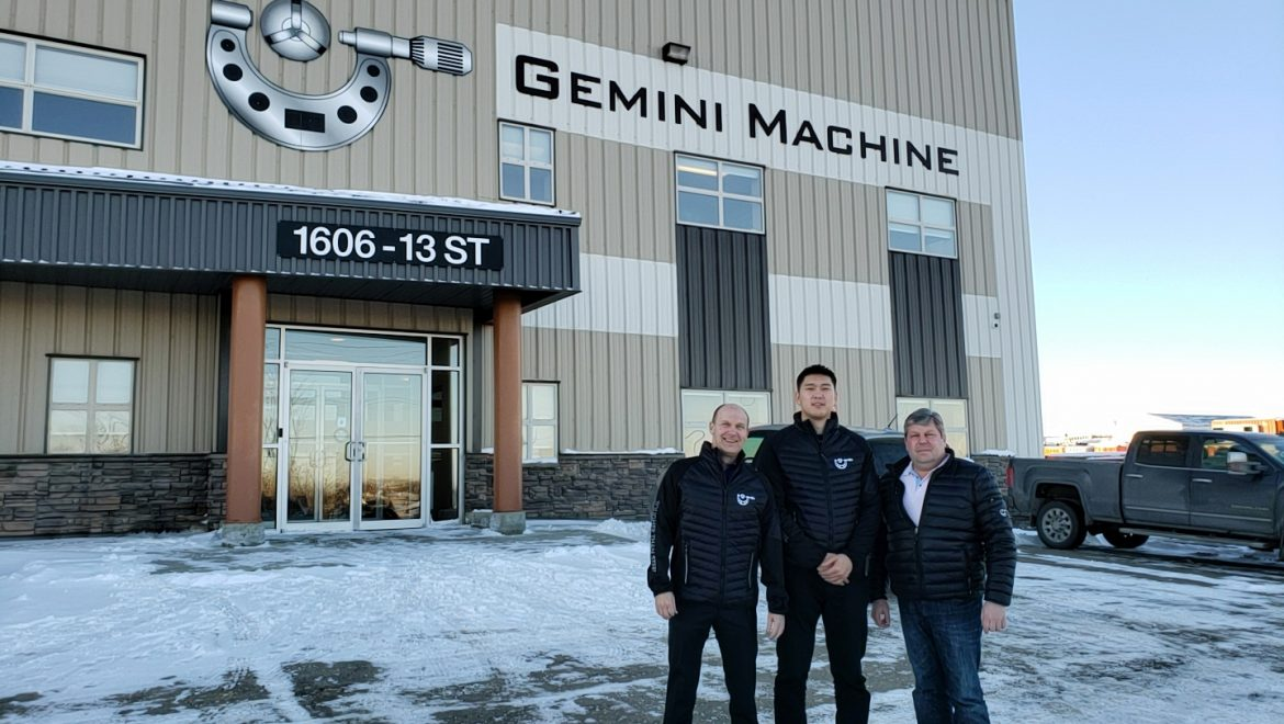 Chris Neitsch, Mike Walchuk and Mongolian Trade Commissioner Outside Gemini