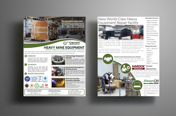 gemini mine equipment repair rebuild brochure